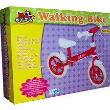 Loopfiets Roze met handrem Happy Rider Wheelsfun
