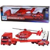 112-Brandweer-Set-Truck-+-Auto-+-Helikopter