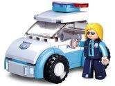 Sluban-Girls-Dream-Serie-M38-B0600B-Politievrouw-met-Politiewagen-69-delig