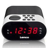 Lenco-CR-07-Wekkerradio-Wit