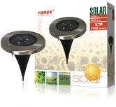 Ranex-Ra-5000389-Ronde-Led-Solar-Grondspot-Geborsteld-Rvs-Glas