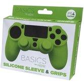 Silicone-Skin-+-Grips-(groen)--voor-PS4
