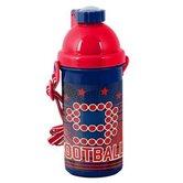 Voetbal-Drinkbeker-500-ml--nr-9--Rood-met-Blauw