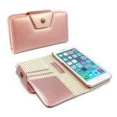 Alston-Craig-Leren-Flipcase-magnetisch-telefoon-hoesje-Apple-Iphone-8-Rosé-goud-(Streep)
