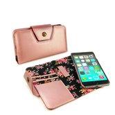 Alston-Craig-Leren-Flipcase-magnetisch-telefoon-hoes-Apple-Iphone-8-Rosé-goud-(Secret-garden)