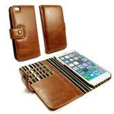 Alston-Craig-Vintage-Genuine-Leren-portemonnee-Case-voor-de-Apple-iPhone-8-Bruin