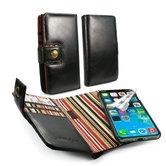 Alston-Craig-Vintage-lederen-billfold-portemonnee-met-magnetisch-hoesje-Apple-iPhone-XR-met-RFID-bescherming--zwart