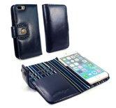 Alston-Craig-Echt-Leren-Magnetische-Portemonnee-Hoesje-met-RFID-Bescherming-Iphone-7-Plus-Blauw