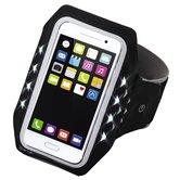 Hama-Sport-armband-Running-Voor-Smartphones-Maat-XL-Met-Led-Zwart