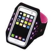 Hama-Sport-armband-Running-Voor-Smartphones-Maat-XL-Met-Led-Pink