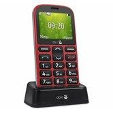 Doro-1361-RD-GSM-Mobiele-Telefoon-Rood-Zwart
