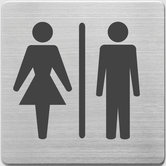Alco-AL-450-3-Pictogram-RVS-90x90x1mm-WC-Dames-En-Heren--