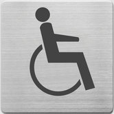 Alco-AL-450-4-Pictogram-RVS-90x90x1mm-WC-Gehandicapten--