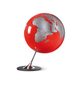 Atmosphere-NR-0324AGYR-GB-Globe-Anglo-Red-25cm-Diameter-Metaal-Chrome