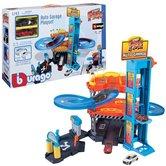 Burago-1:43-Garage-Inclusief-2-Autos