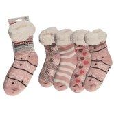 Comfort-Sokken-One-Size-Roze-Assorti