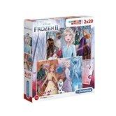 Clementoni-Disney-Frozen-2-Supercolor-Puzzel-2x20-Stukjes