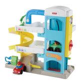 Fisher-Price-Little-People-Garage-+-2-Autos