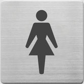 Alco-AL-450-1-Pictogram-RVS-90x90x1mm-WC-Dames--