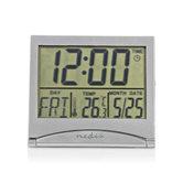 Nedis-CLDK002SR-Digitale-Reiswekker-Datum-temperatuur-Zilver