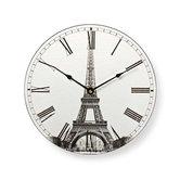 Nedis-CLWA007WD30ET-Wandklok-30-cm-Eiffeltoren-Print