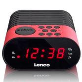 Lenco-CR-07-Wekkerradio-Roze