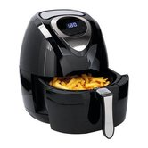 Cuisinier-DeLuxe-Hetelucht-Friteuse-3.2L-1400W-Zwart-RVS