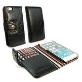 Alston-Craig-Vintage-Genuine-Leren-portemonnee-Case-voor-de-Apple-iPhone-8-Zwart