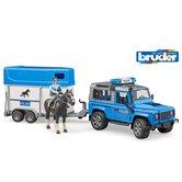 Bruder-02588-Politie-Jeep-met-Paardentrailer-+-Paard-en-Figuur-+-Licht-en-Geluid