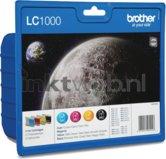 Brother-LC-1000-multipack-zwart-en-kleur-(Origineel)