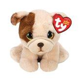 TY-Beanie-Babies-Knuffel-Mopshond-Hougie-15-cm