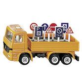 Siku-1322-Vrachtwagen-+-Verkeersborden