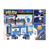 Politiebureau-met-2-Autos-+-Licht-+-Geluid