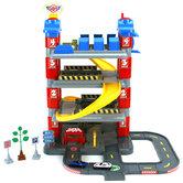Dolu-Toy-Factory-New-York-Garage-met-4-Etages-2-Die-Cast-Autos-2-Verkeersborden-Boom