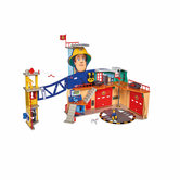 Simba-Brandweerman-Sam-XXL-Brandweerkazerne-Speelset-+-Licht-en-Geluid