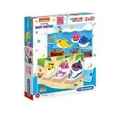 Clementoni-Supercolor-Puzzel-Baby-Shark-2x20-Stukjes