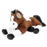 Horses-XXL-Pluche-Knuffel-Paard-60-cm-Donkerbruin-Wit