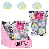 Create-It!-Eenhoorn-Poep-Waterkleurende-Bad-Bruisballen-3-Stuks-Assorti