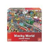 Goliath-Wacky-World-Puzzel-Car-Race-1000-Stukjes
