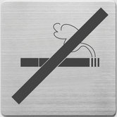 Alco-AL-450-13-Pictogram-RVS-90x90x1mm-Niet-Roken--