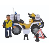 Simba-Brandweerman-Sam-Politie-Quad-met-Figuur