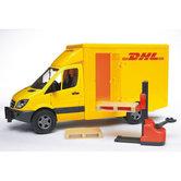 Bruder-MB-Sprinter-DHL-met-Handheftruck