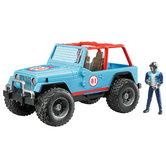 Bruder-Jeep-Cross-Country-Racer-Blauw-met-Rijder