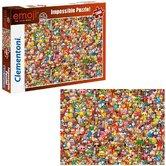 Clementoni-Puzzel-Emoji-Impossible-1000-Stukjes