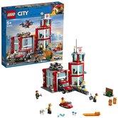 Lego-City-60215-Brandweerkazerne-met-Licht-en-Geluid