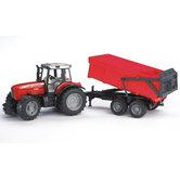 Bruder-Massey-Ferguson-7480-Tractor-met-Aanhanger