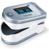 Beurer-PO60-Bluetooth-Pulse-Oximeter-Saturatiemeter-Zilver-Wit